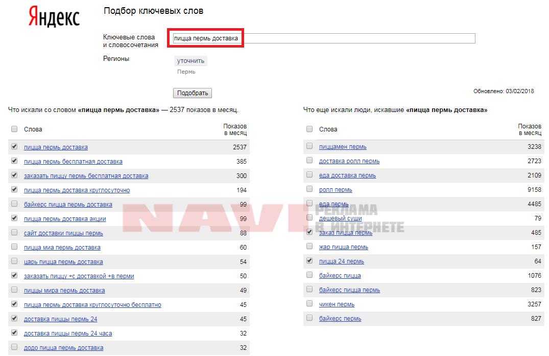 Яндекс - оценка бюджета - ключевые фразы - подобрать-поиск.