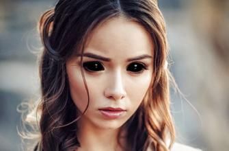 Черные глаза в Фотошопе