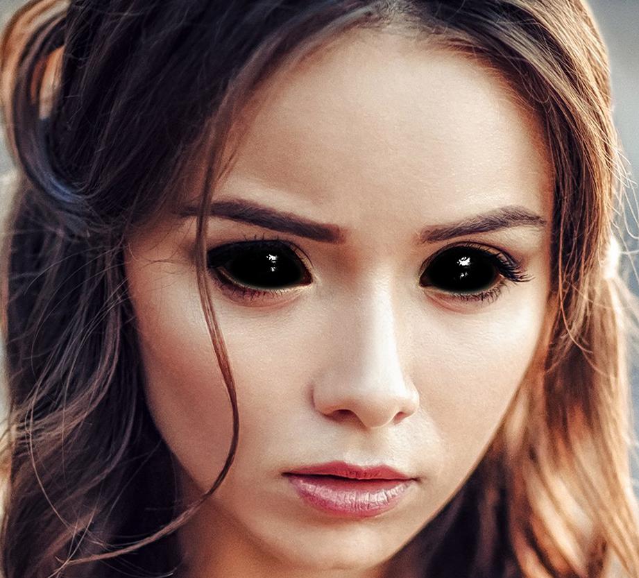 Черные глаза в Фотошопе 9