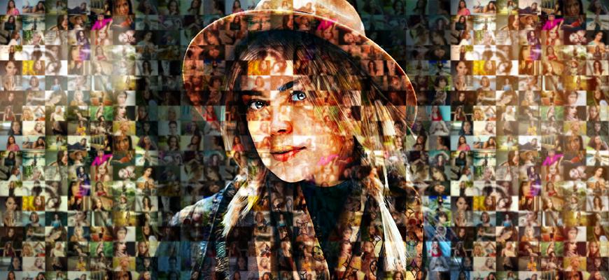 Мозаичный портрет в Фотошопе