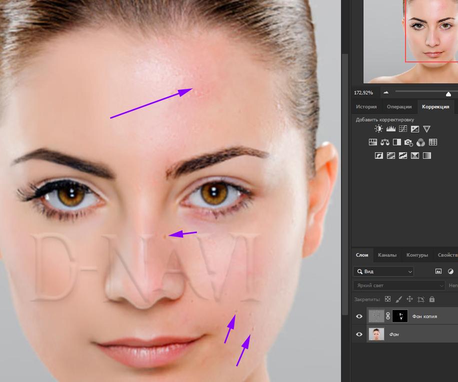 Быстрая ретушь кожи в фотошопе 10