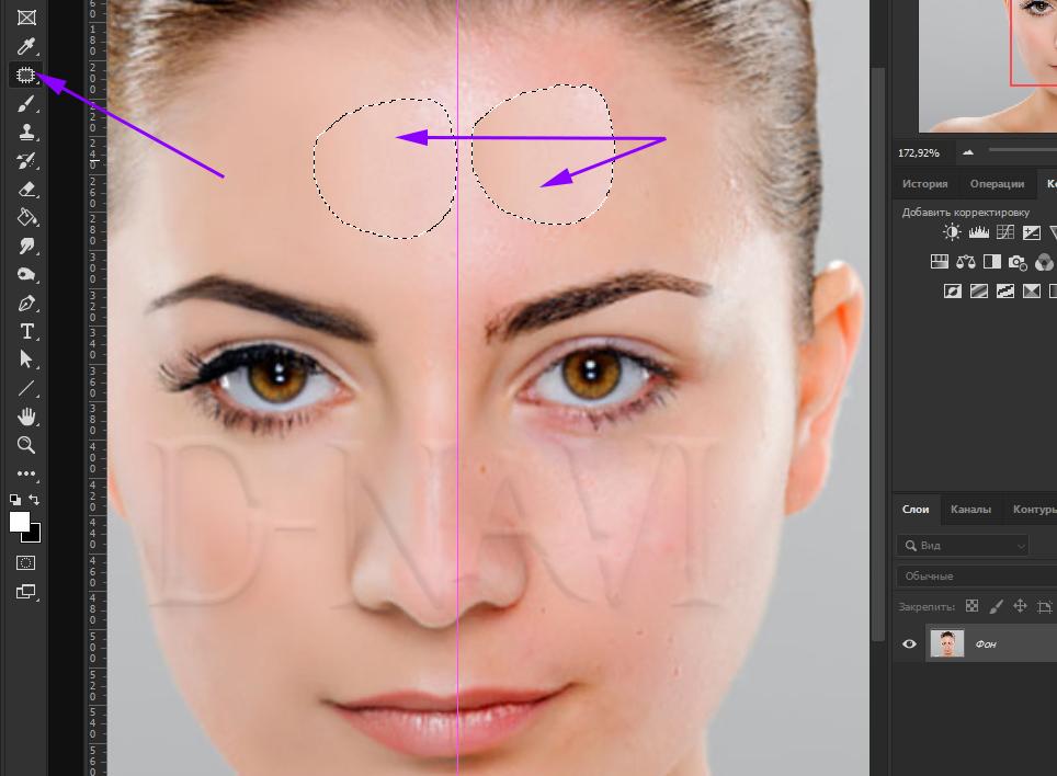 Быстрая ретушь кожи в фотошопе 11