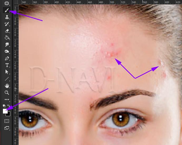 Быстрая ретушь кожи в фотошопе 9