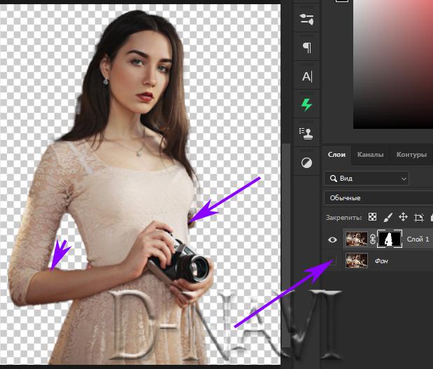 Как удалить фон в фотошопе за два клика