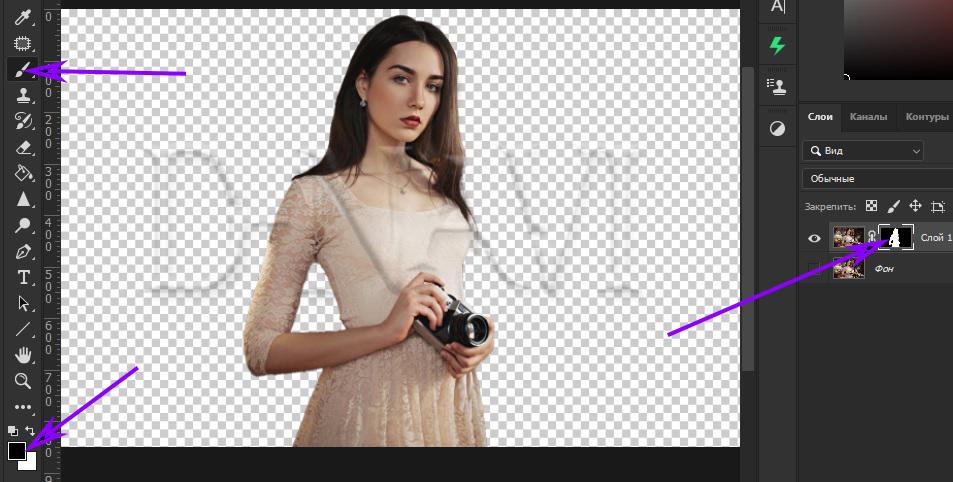 Как удалить фон в фотошопе за два клика 4